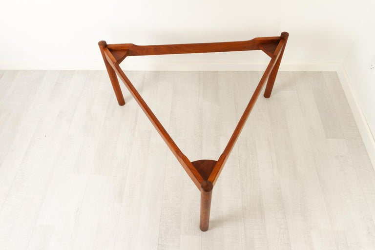 Danish Modern Teak and Glass Coffee Table by Komfort, 1960s For Sale 10