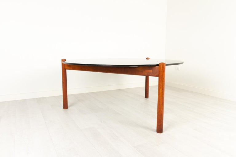 Danish Modern Teak and Glass Coffee Table by Komfort, 1960s For Sale 1