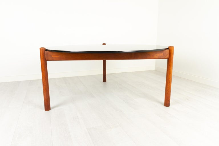 Danish Modern Teak and Glass Coffee Table by Komfort, 1960s For Sale 2