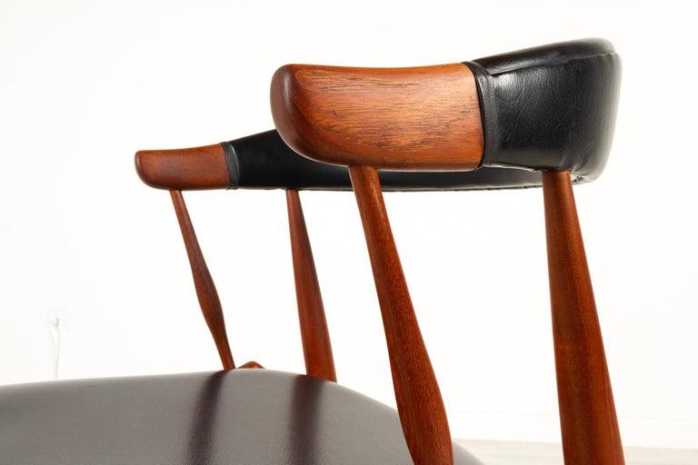 Danish Modern Teak Armchair by Johannes Andersen for Brdr. Andersen, 1960s For Sale 5