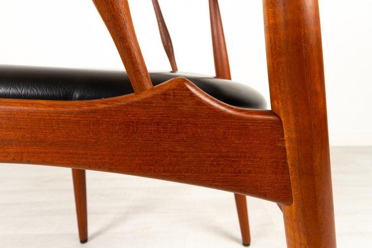 Danish Modern Teak Armchair by Johannes Andersen for Brdr. Andersen, 1960s For Sale 6