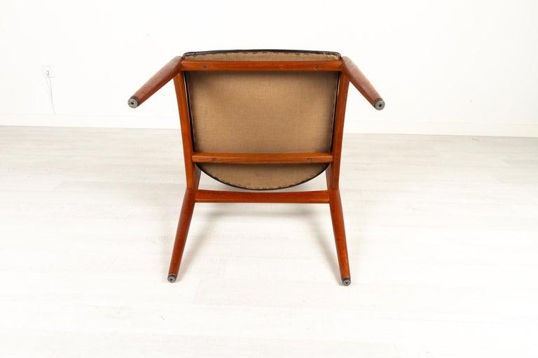Danish Modern Teak Armchair by Johannes Andersen for Brdr. Andersen, 1960s For Sale 8