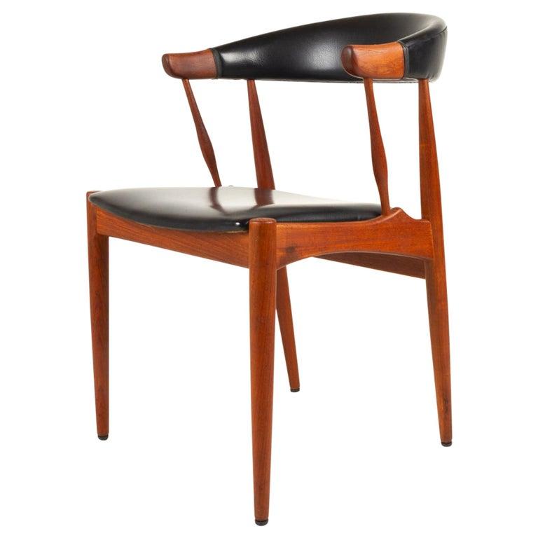 Danish Modern Teak Armchair by Johannes Andersen for Brdr. Andersen, 1960s For Sale