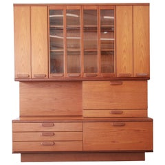 Danish Modern Teak Bar Cabinet Wall Unit