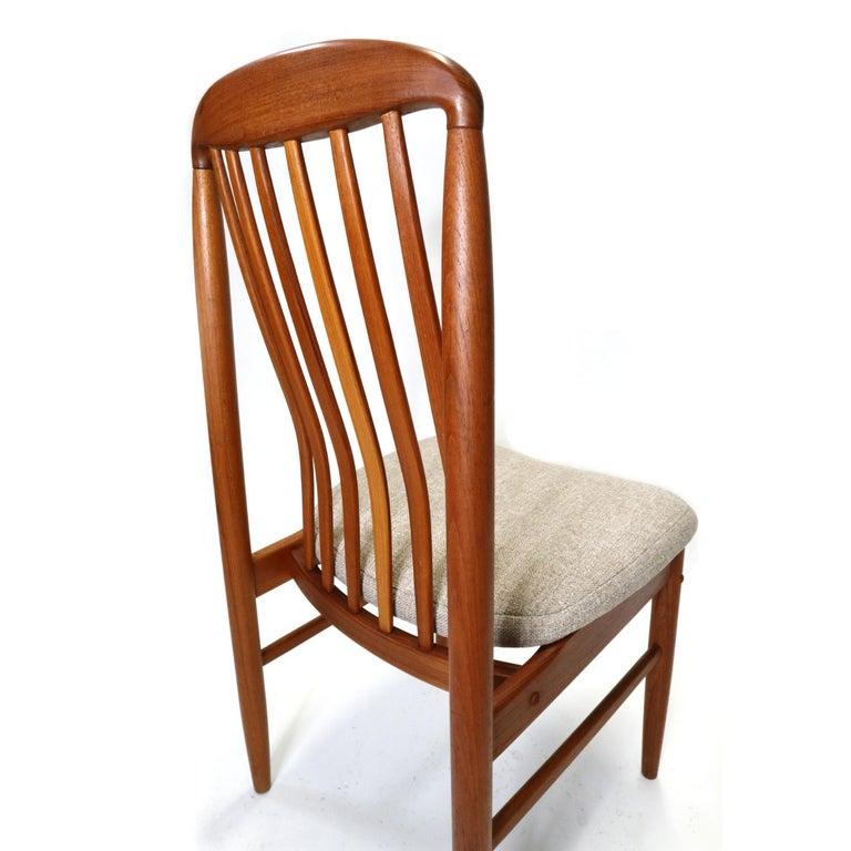 Mid-Century Modern Danish Modern Teak Benny Linden BL10 Dining Chairs