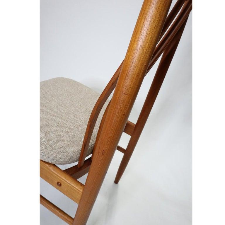 Danish Modern Teak Benny Linden BL10 Dining Chairs In Excellent Condition In Saint Petersburg, FL