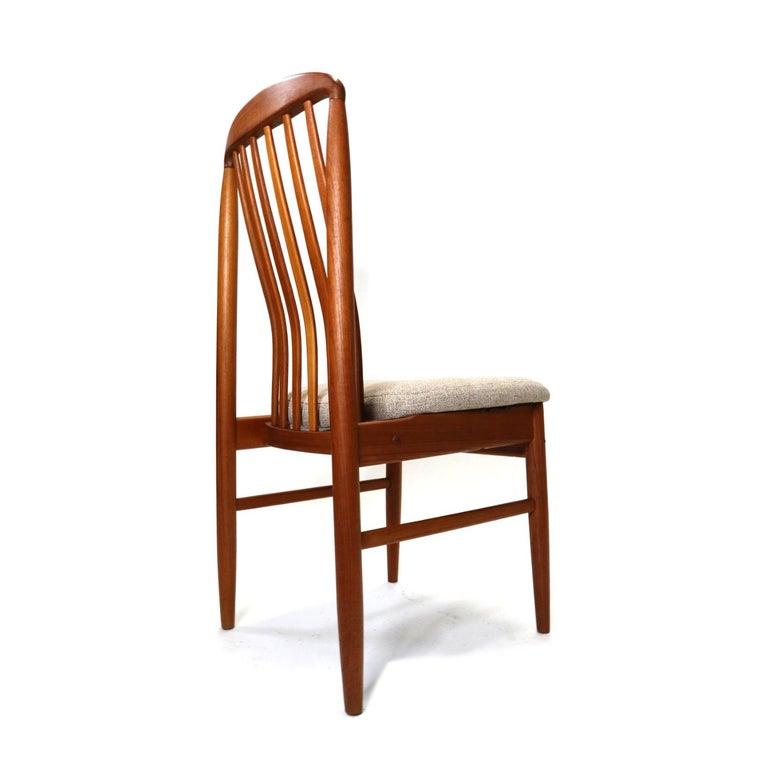 Late 20th Century Danish Modern Teak Benny Linden BL10 Dining Chairs