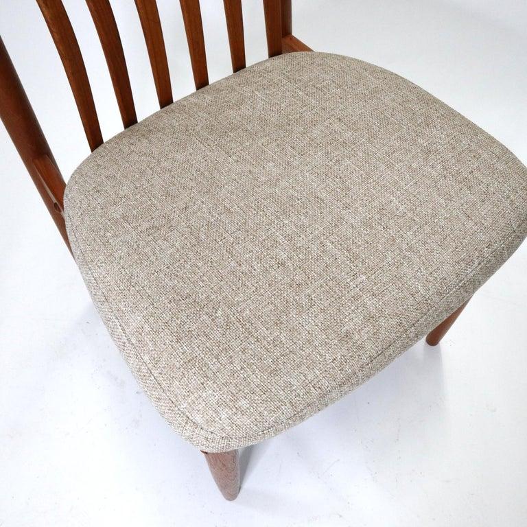Upholstery Danish Modern Teak Benny Linden BL10 Dining Chairs