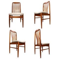 Danish Modern Teak Benny Linden BL10 Dining Chairs