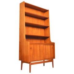 Danish Modern Teak Bookcase by Johannes Sorth for Bornholm #1