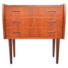 Danish Modern Teak Bow Edge Entry Chest