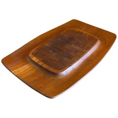Danish Modern Teak Butcher Block Cutting Board by Jens Quistgaard for Dansk