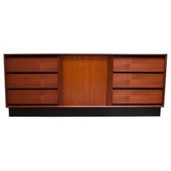 Danish Modern Teak Chest of Drawers / Credenza by Danflex Systems