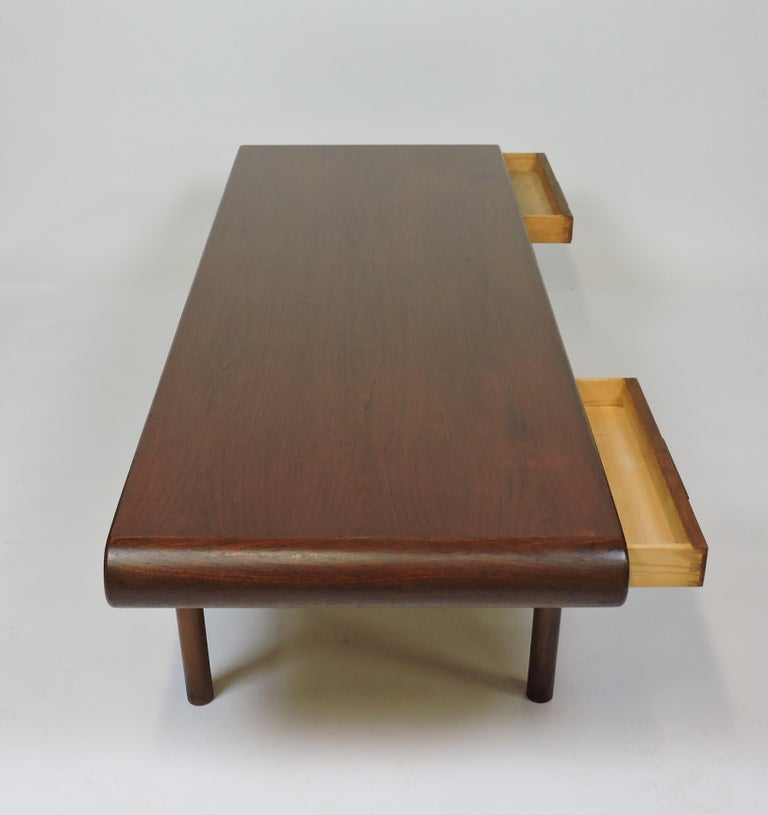 Danish Modern Teak Coffee Table with Drawers Toften ...
