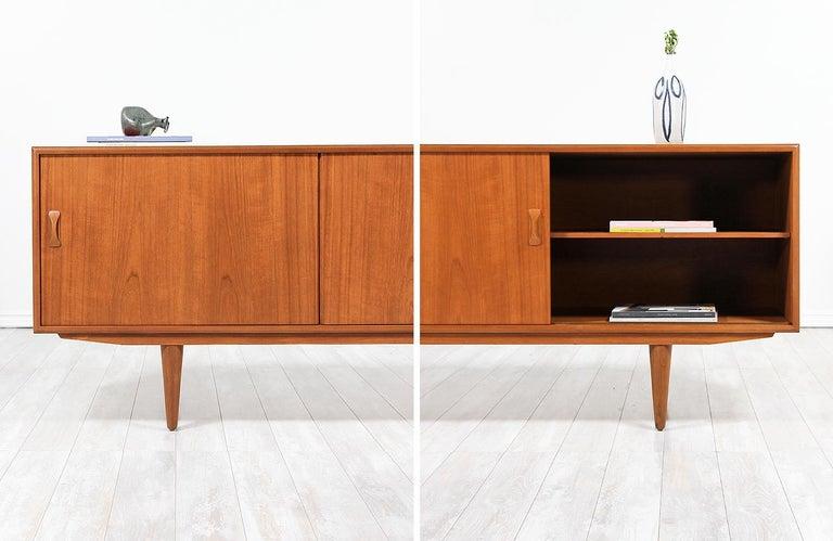 Danish Modern Teak Credenza by Clausen & Søn For Sale 8