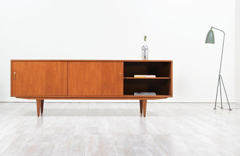 Mid-Century Modern Danish Modern Teak Credenza by Clausen & Søn For Sale