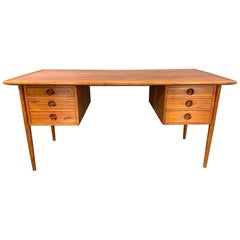 Danish Modern Teak Desk Attributed to Kai Kristensen