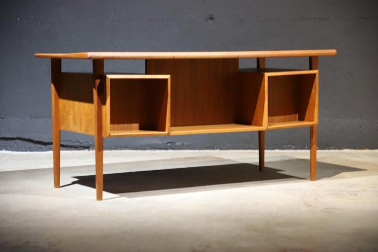 Danish Modern Teak Desk by Peter Lovig Nielsen 7