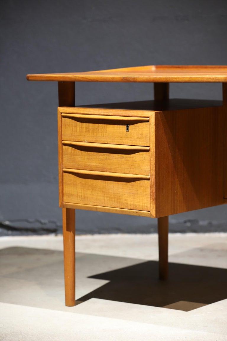 Danish Modern Teak Desk by Peter Lovig Nielsen 12