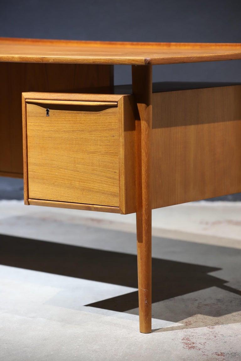 Danish Modern Teak Desk by Peter Lovig Nielsen 13