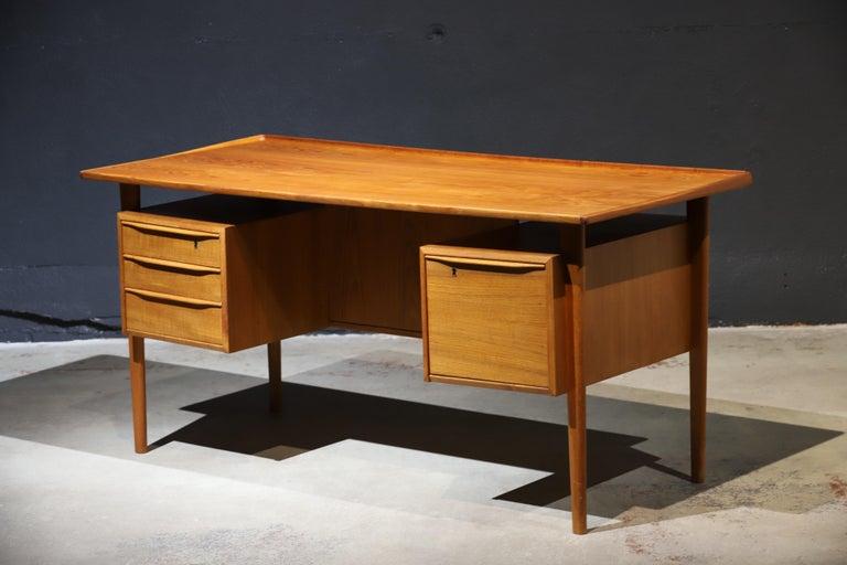 Danish Modern Teak Desk by Peter Lovig Nielsen 14