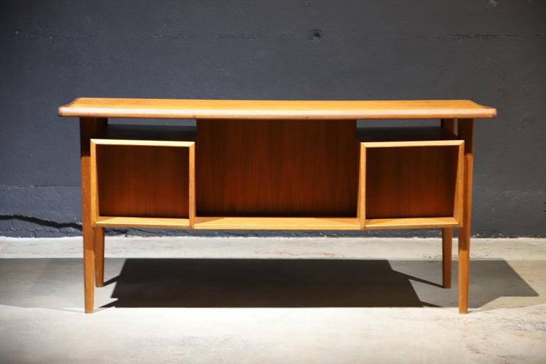 Mid-Century Modern Danish Modern Teak Desk by Peter Lovig Nielsen