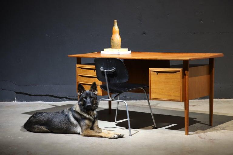 Danish Modern Teak Desk by Peter Lovig Nielsen 1