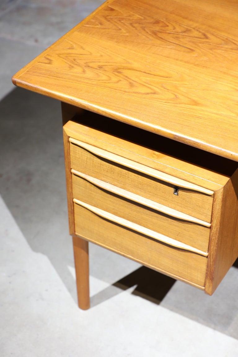 Danish Modern Teak Desk by Peter Lovig Nielsen 3