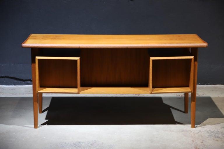 Danish Modern Teak Desk by Peter Lovig Nielsen 4