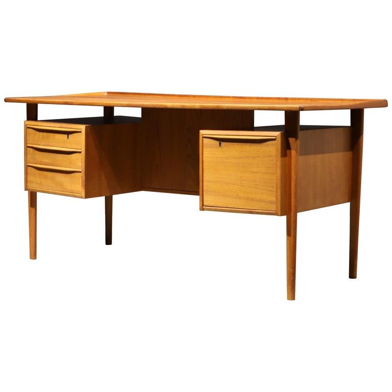 Danish Modern Teak Desk by Peter Lovig Nielsen