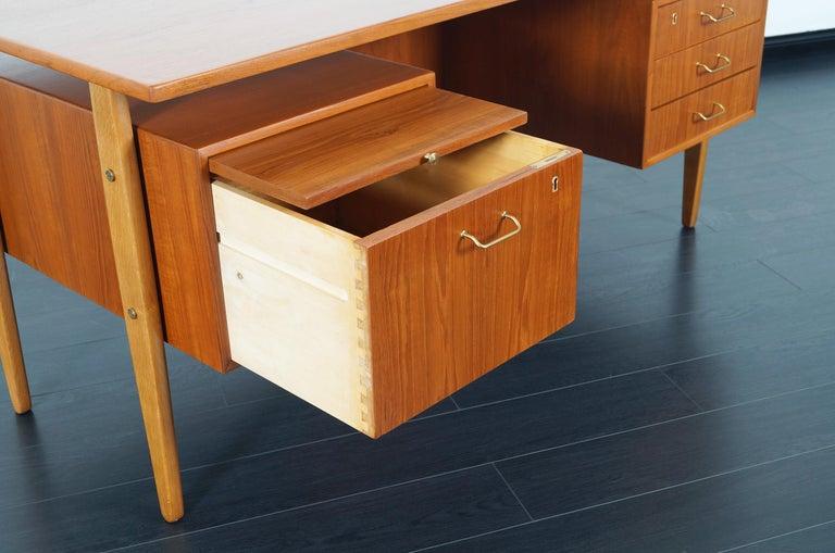 Mid-20th Century Danish Modern Teak Desk by Torben Standgaard For Sale