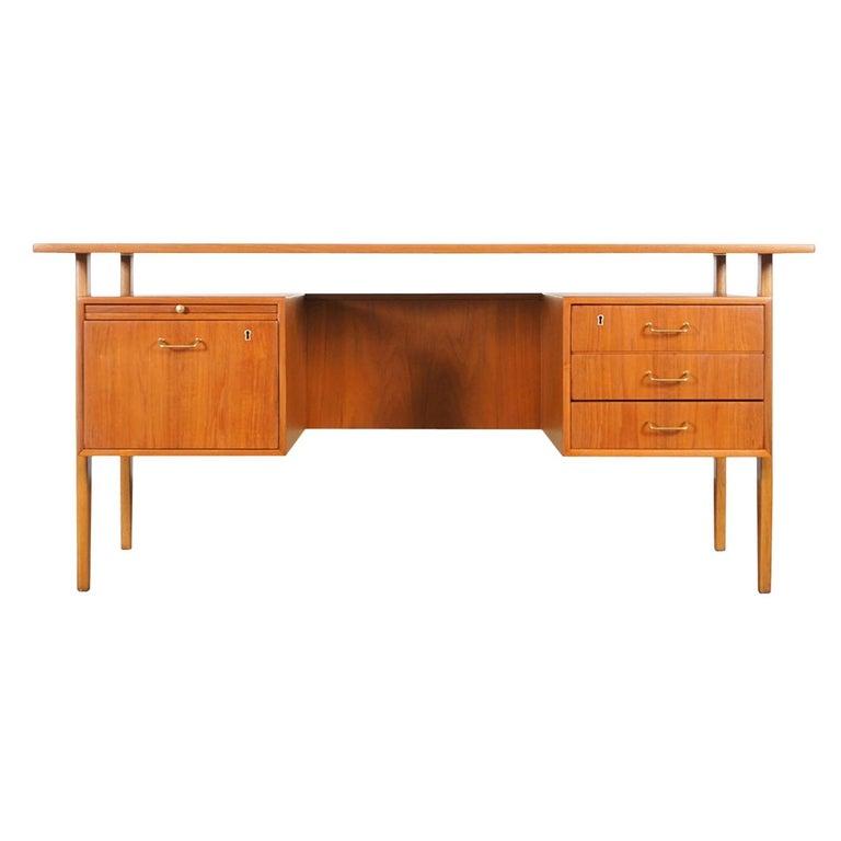 Danish Modern Teak Desk by Torben Standgaard For Sale