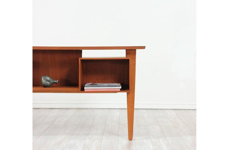 Danish Modern Teak Desk with Bookshelf For Sale 2