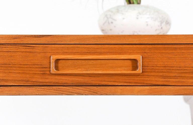 Danish Modern Teak Desk with Pop Up Tray For Sale 9