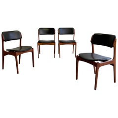 Danish Modern Teak Dining Chairs by Erik Buch for O.D. Mobler