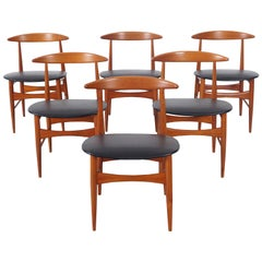 Danish Modern Teak Dining Chairs by Mogens Kold