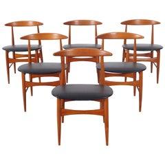 Danish Modern Teak Dining Chairs by Mogens Kold