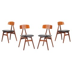 Danish Modern Teak Dining Chairs by Scan Style