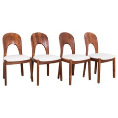 Danish Modern Teak Dining Chairs, Set of Four