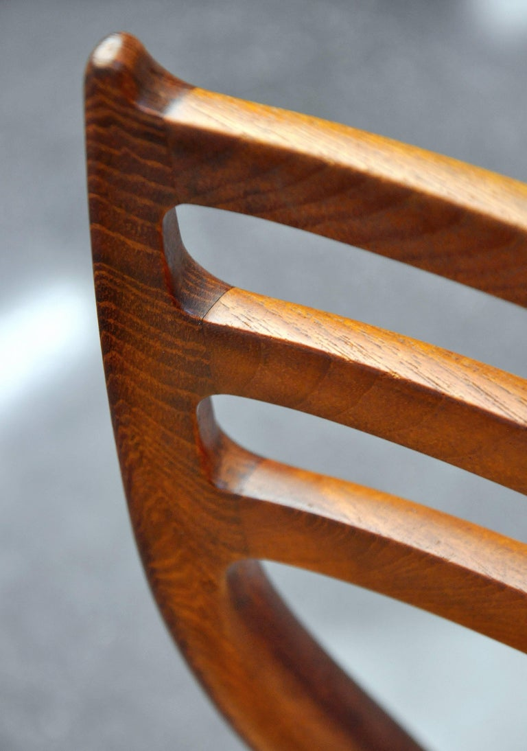 Danish Modern Teak Dining Set with Four Moller Model #78 Chairs 5