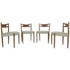 Danish Modern Teak Dinning Room Chairs Set of 4, 1960s Denmark