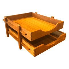 Danish Modern Teak Double Letter Tray by Trip Trap of Denmark
