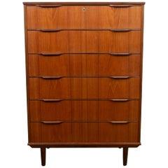 Danish Modern Teak Dresser, 1960s