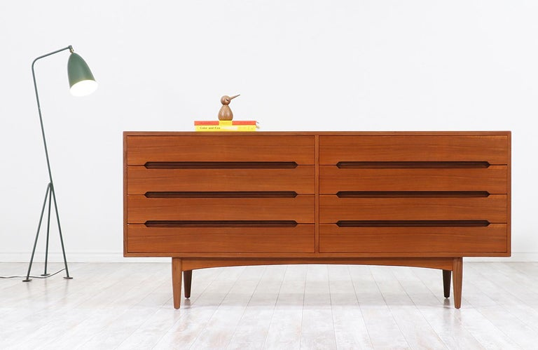 Mid-Century Modern Danish Modern Teak Dresser by E.W. Bach For Sale