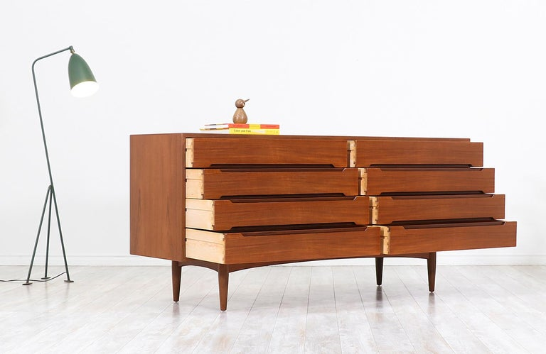 Mid-20th Century Danish Modern Teak Dresser by E.W. Bach For Sale