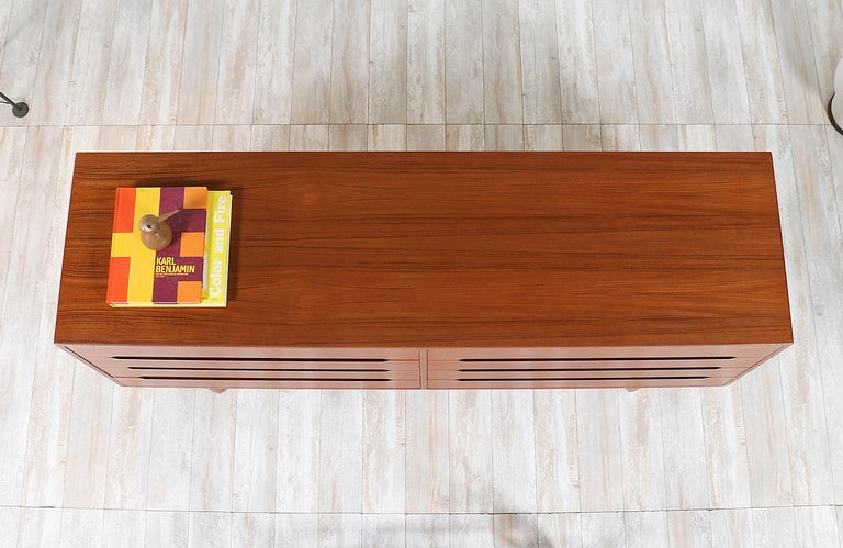 Wood Danish Modern Teak Dresser by E.W. Bach For Sale