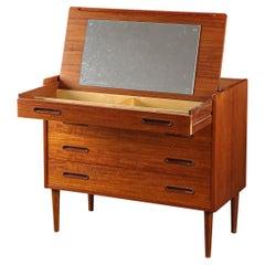 Danish Modern Teak Dresser with Vanity