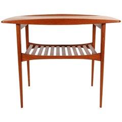 Danish Modern Teak End Table by Povl Dinesen