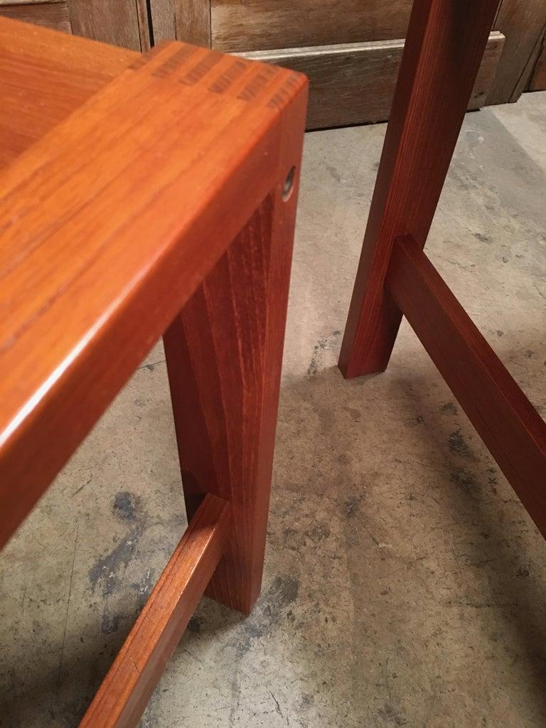 Danish Modern Teak End Tables For Sale 8