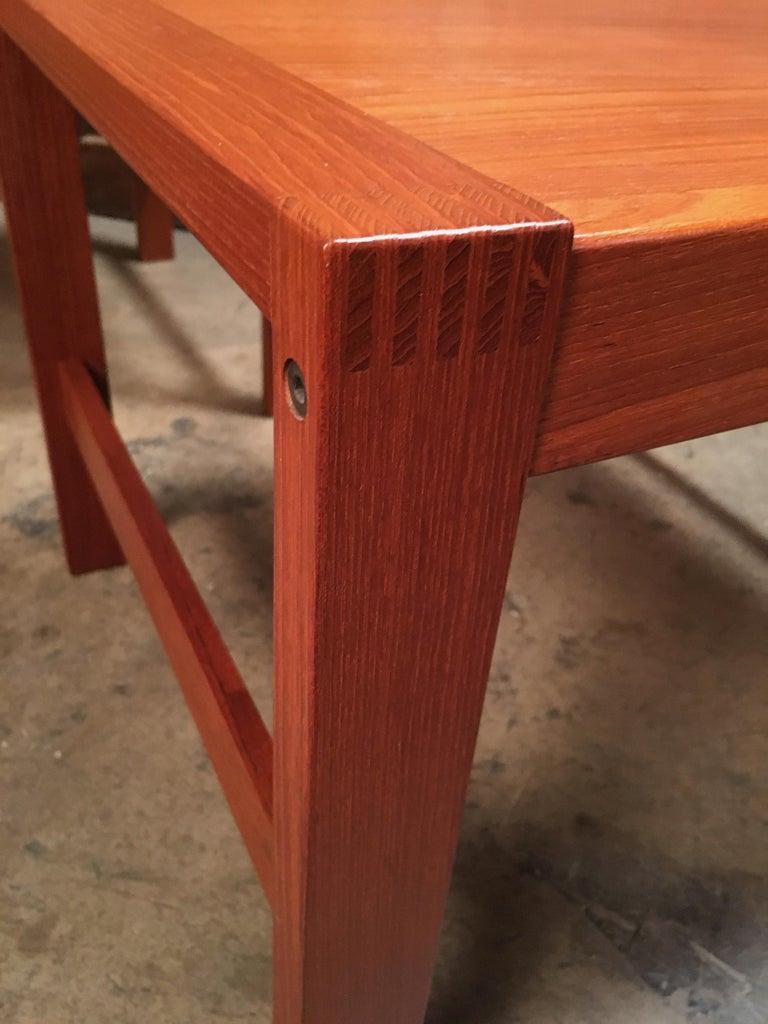 Scandinavian Modern Danish Modern Teak End Tables For Sale
